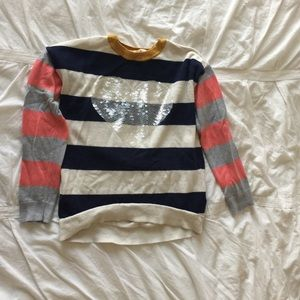 Gap Sequined Heart Sweater